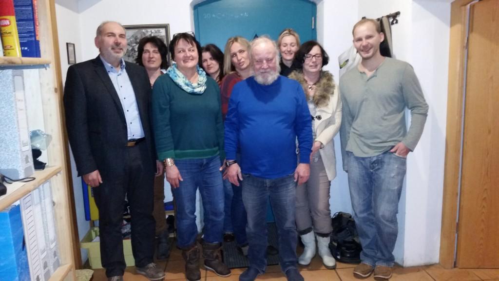 Vorstandschaft mit Gemeinderat Günther Doblinger (links in Bild)